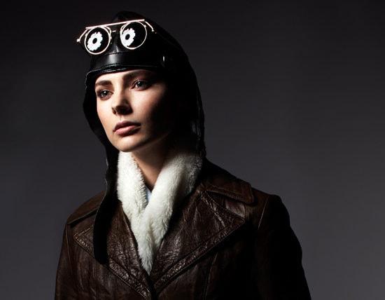 stylish female pilot