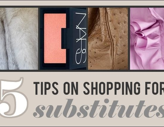 Tips on shopping for substitute products
