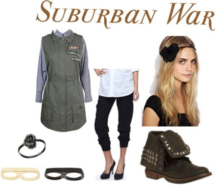 Outfit inspired by Suburban War by Arcade Fire
