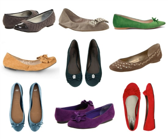 Suede flats fall 2011