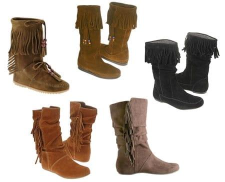 Fringe & Moccasin Boots