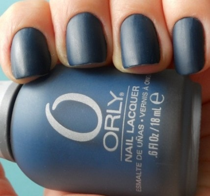 Suede nail polish example