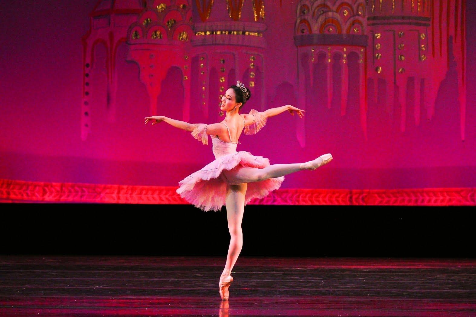 The Sugar Plum fairy in The Nutcracker ballet
