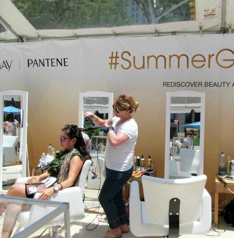 #SummerGlowSalon Pantene