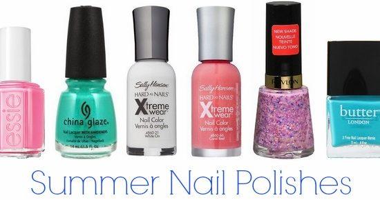 Summer nail polishes