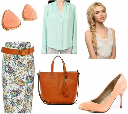 Summer office outfit 2 peachy keen