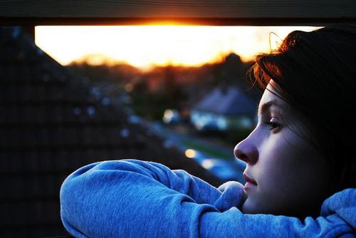 Watching a summer sunset