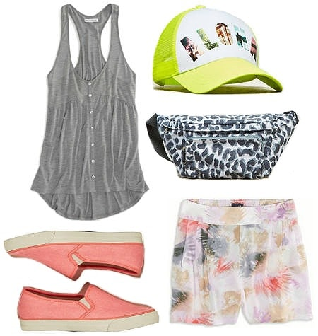 Summertime outfit from American Eagle sneakers