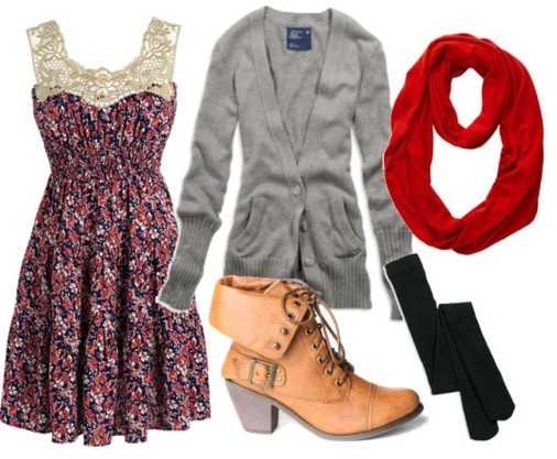 How to wear a summer dress in winter - outfit 1