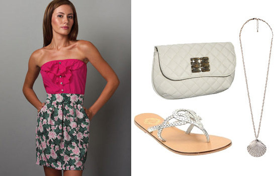 Casual and pretty outfit for a summer wedding