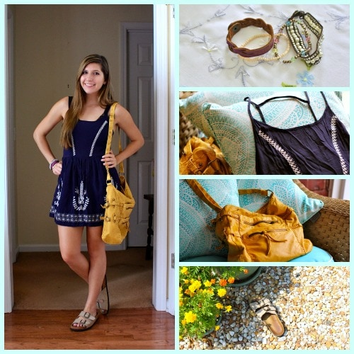 Sundress and birkenstocks outfit