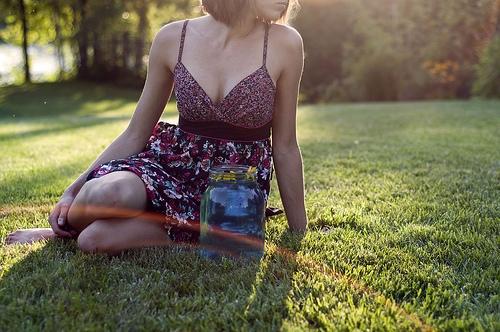 Girl wearing a sundress