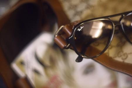 Sunglasses and Vogue magazine
