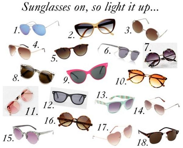 Sunglasses under 20