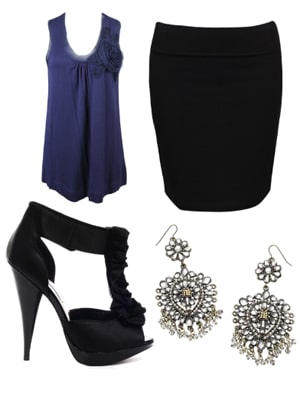 Dressy and classy outfit with super high heels