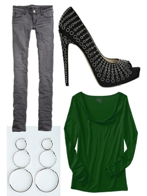 Out and about outfit for super high heels