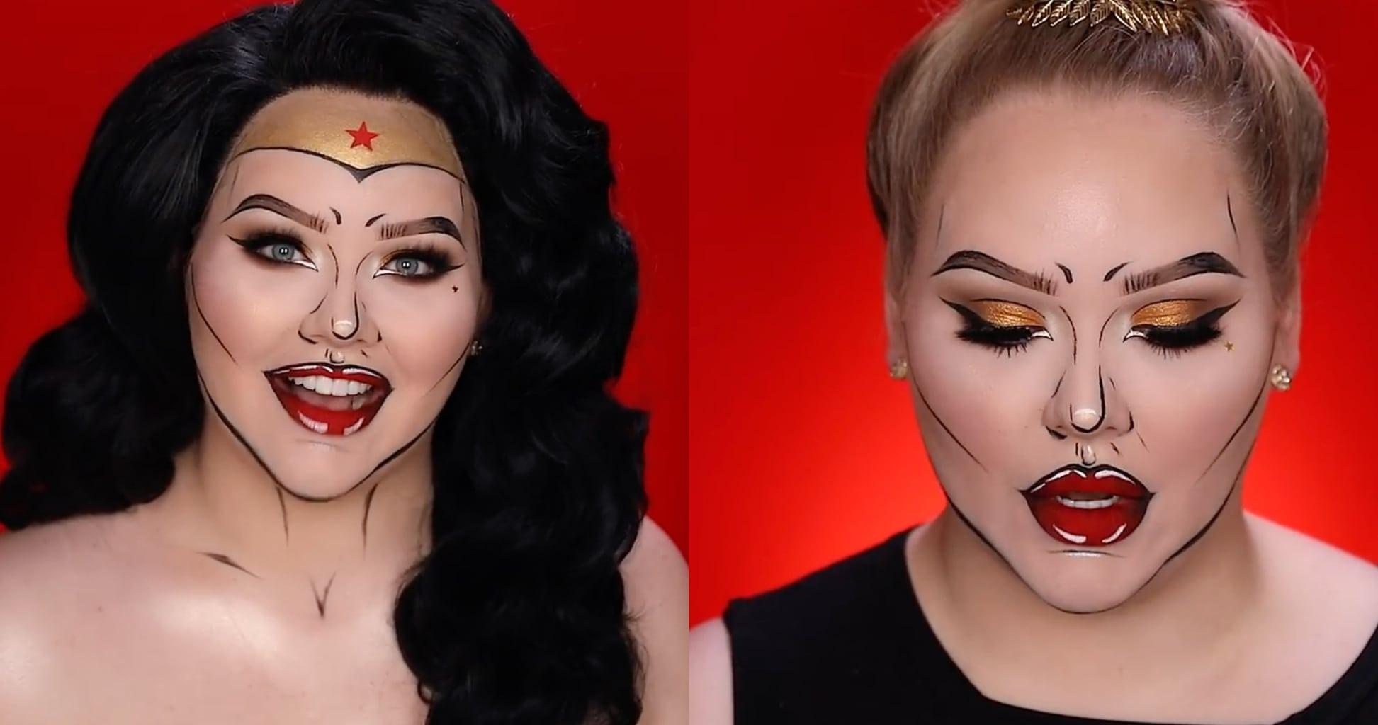 Easy Halloween makeup ideas: Superwoman pop art makeup
