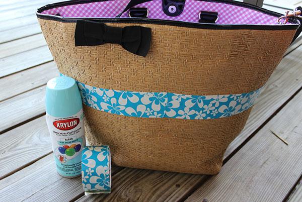DIY Beach Bag Makeover supplies