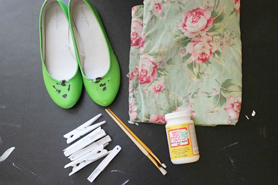 DIY floral flats: Supplies