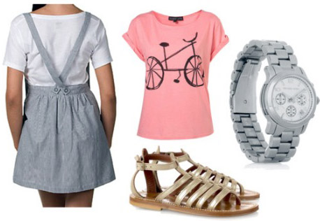 Outfit 1: How to wear suspenders on a dress