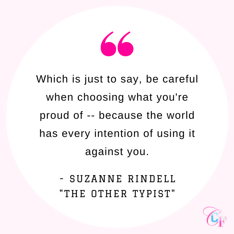 Suzanne Rindell quote from The Other Typist: