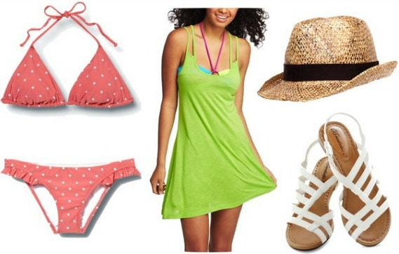 Swimming summer outfit