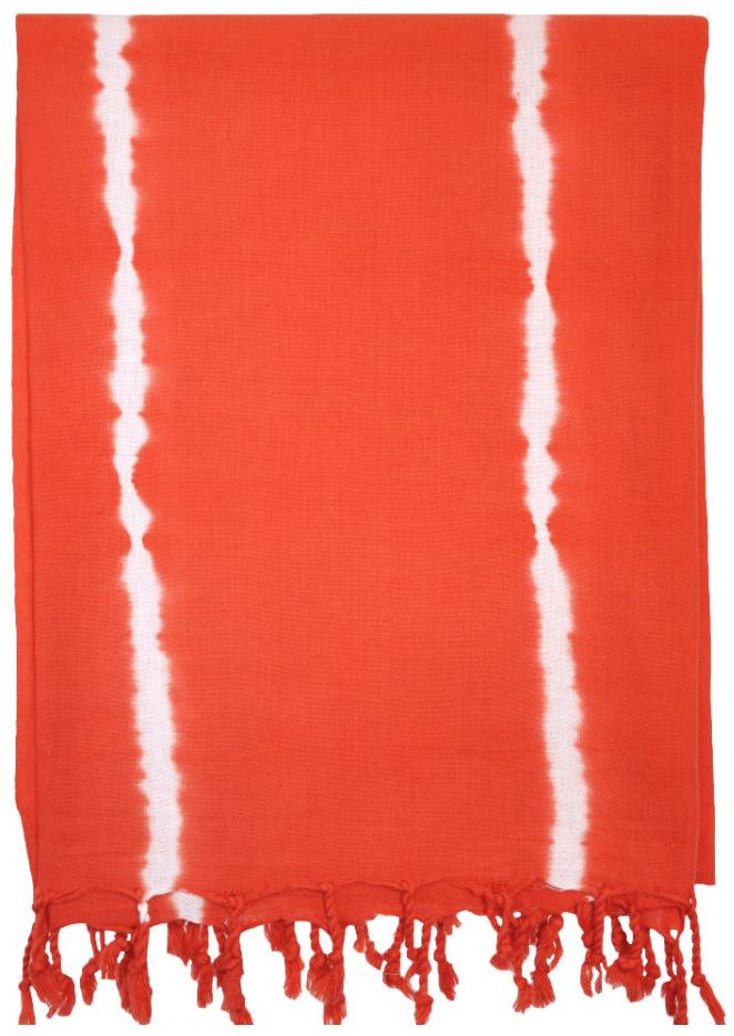 Bright orange tie-dye bath sheet/beach wrap/cover-up