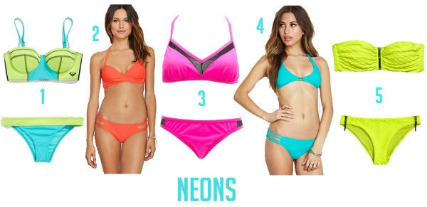 Neon swimsuits summer 2014