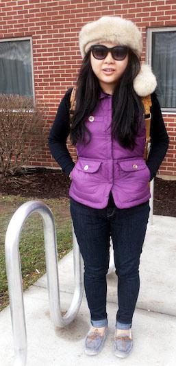 Winter fashion at Syracuse University