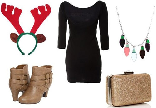 Tacky christmas accessory outfit
