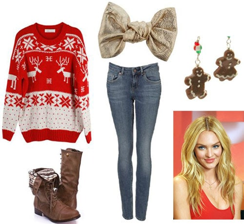 Tacky christmas sweater outfit