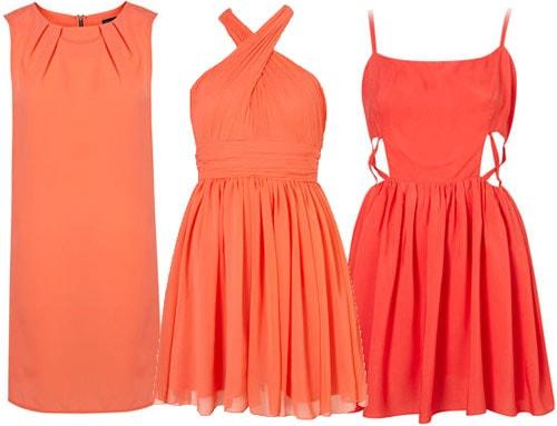 Tangerine dresses