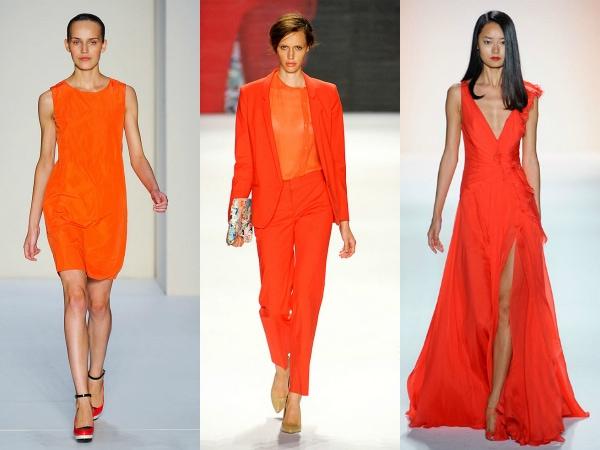 tangerine on the spring 2012 runways