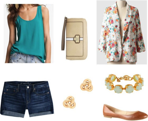 How to wear a tank top and shorts - what to wear for brunch