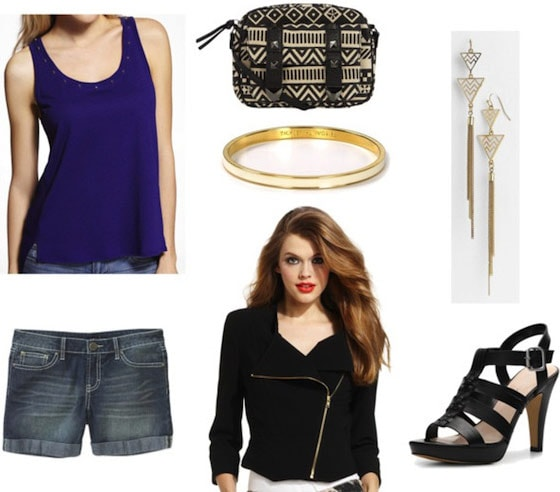 How to wear a tank top and shorts - going out outfit