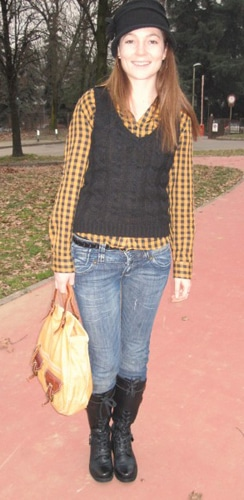Tara, a student from California's street style outfit