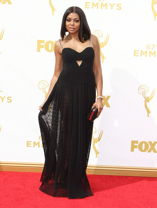 Taraji P Henson in Alexander Wang at the 2015 Emmy Awards