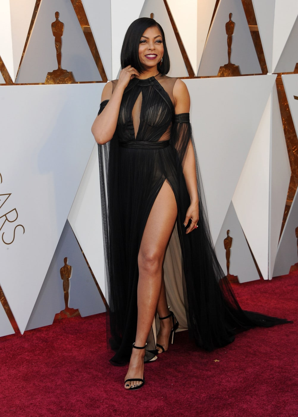 Taraji P. Henson in Vera Wang a the 2018 Oscars