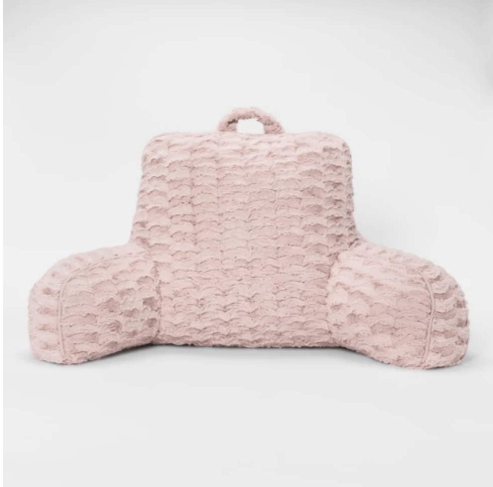 Target plush pink bed rest.