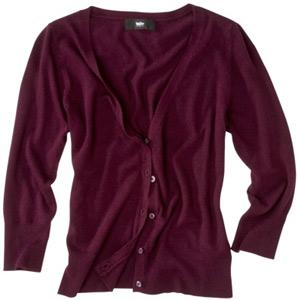 Target burgundy cardigan