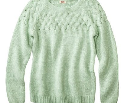 Target cable knit sweater