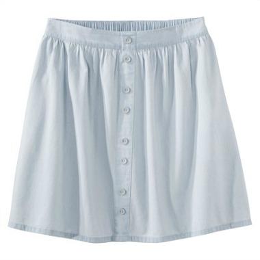 Target denim button front skirt