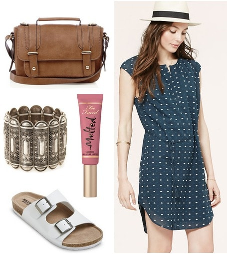 Target footbed sandals and shirtdress