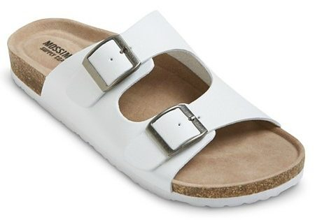 Target white footbed sandals