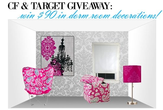 College Fashion and Target dorm room giveaway!