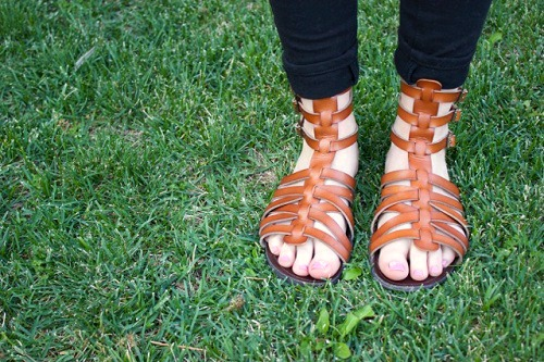 Target gladiator sandals spotted at the University of Nevada Reno