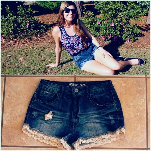 Target high waisted denim shorts