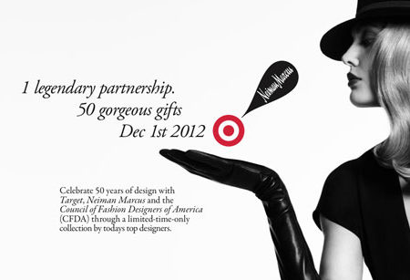 Target and Neiman Marcus holiday collection banner