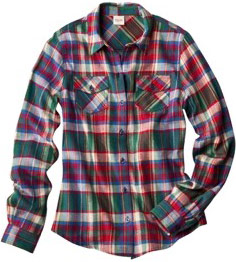 Target plaid shirt in multicolored plaid
