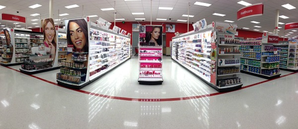 Target redesigned beauty aisle